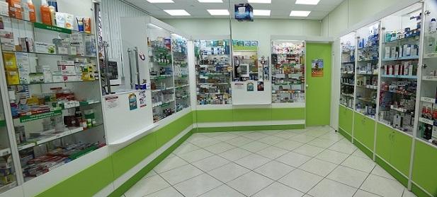 Пример торгового оборудования для аптек