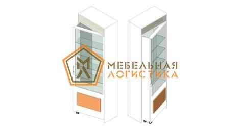 Дверной проем в сборе с витриной