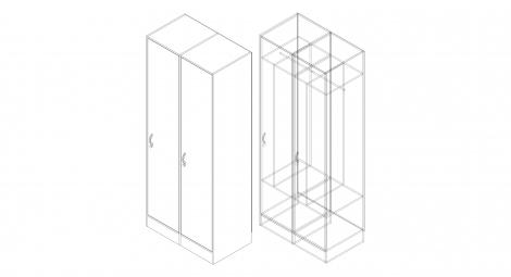 Шкаф для одежды на 2 чел.