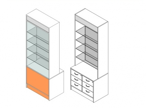 Витрина 1-й линии с ящиками и ЛБ