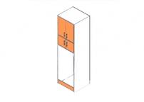Короб для холодильника с дверцами