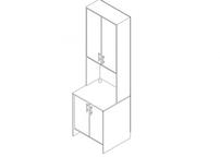 Стол-стеллаж c дверцами