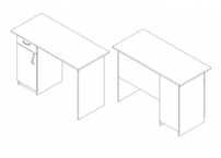 Стол со встроенной тумбочкой