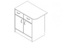 Стол-тумба с дверцами
