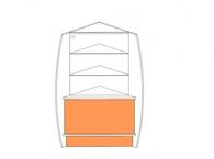 Витрина 1-й линии угловая (каскад)