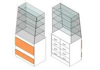 Витрина 1-й линии с ящиками