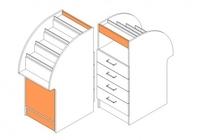Прилавок-каскад с ящиками