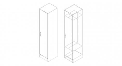 Шкаф для одежды на 1 чел.
