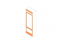 Дверной проем в сборе со стеклом