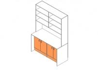Стол-стеллаж с дверцами