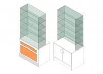 Витрина 1-й линии с дверцами